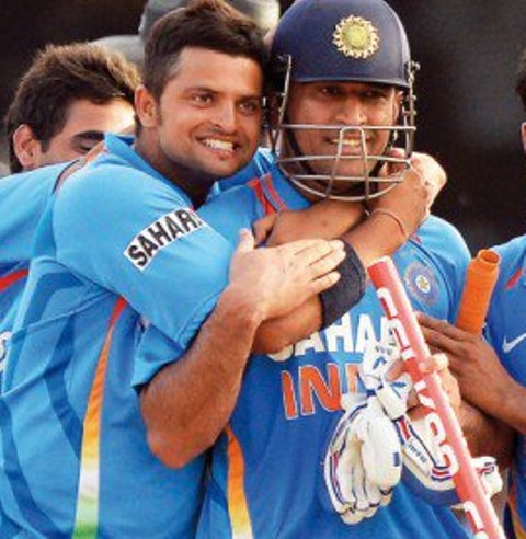Suresh Raina wishes MS Dhoni and S Kidambi on their respective Padma Award wins