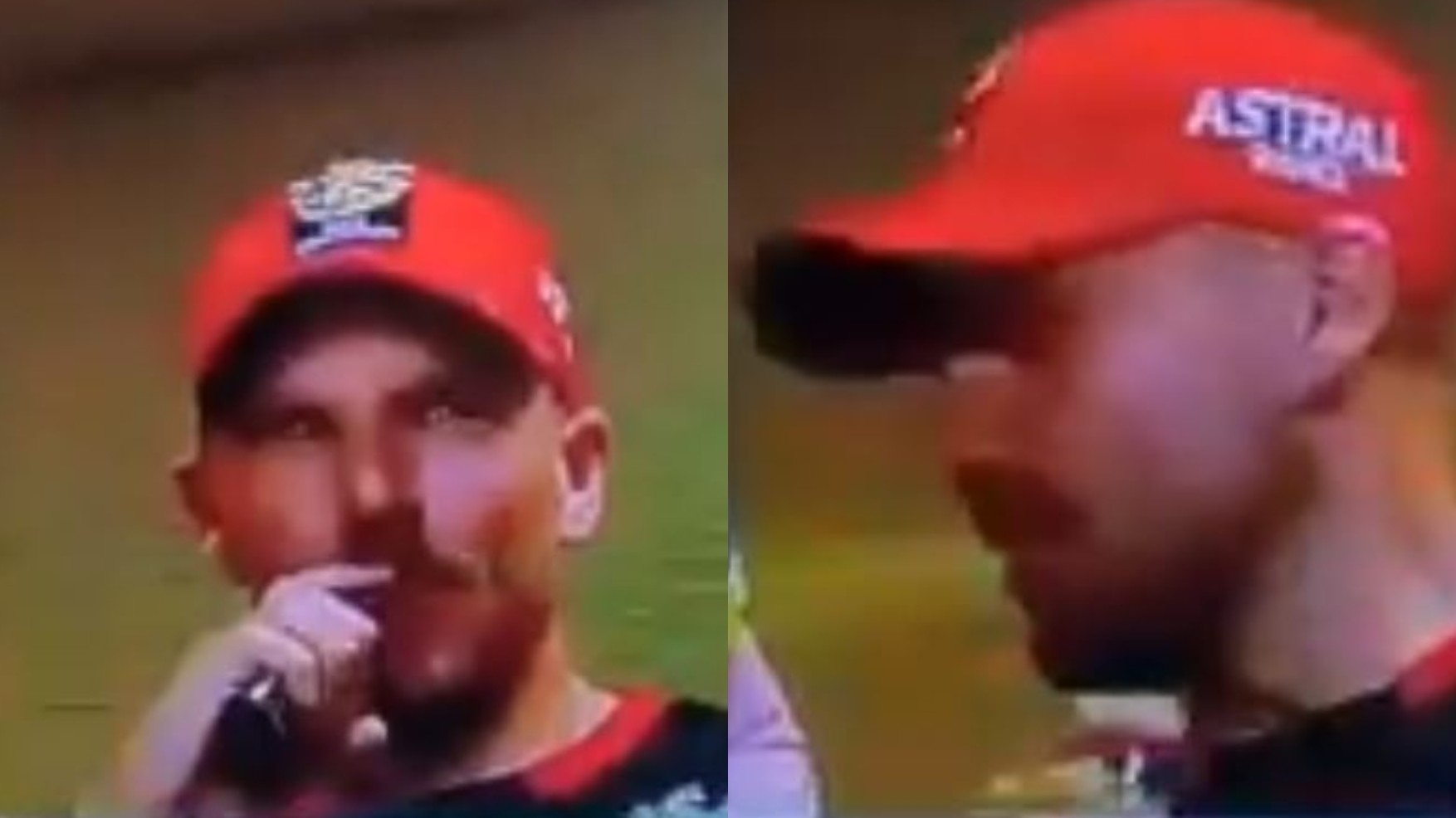 IPL 2020: WATCH- Aaron Finch caught vaping in RCB dressing room during match vs RR