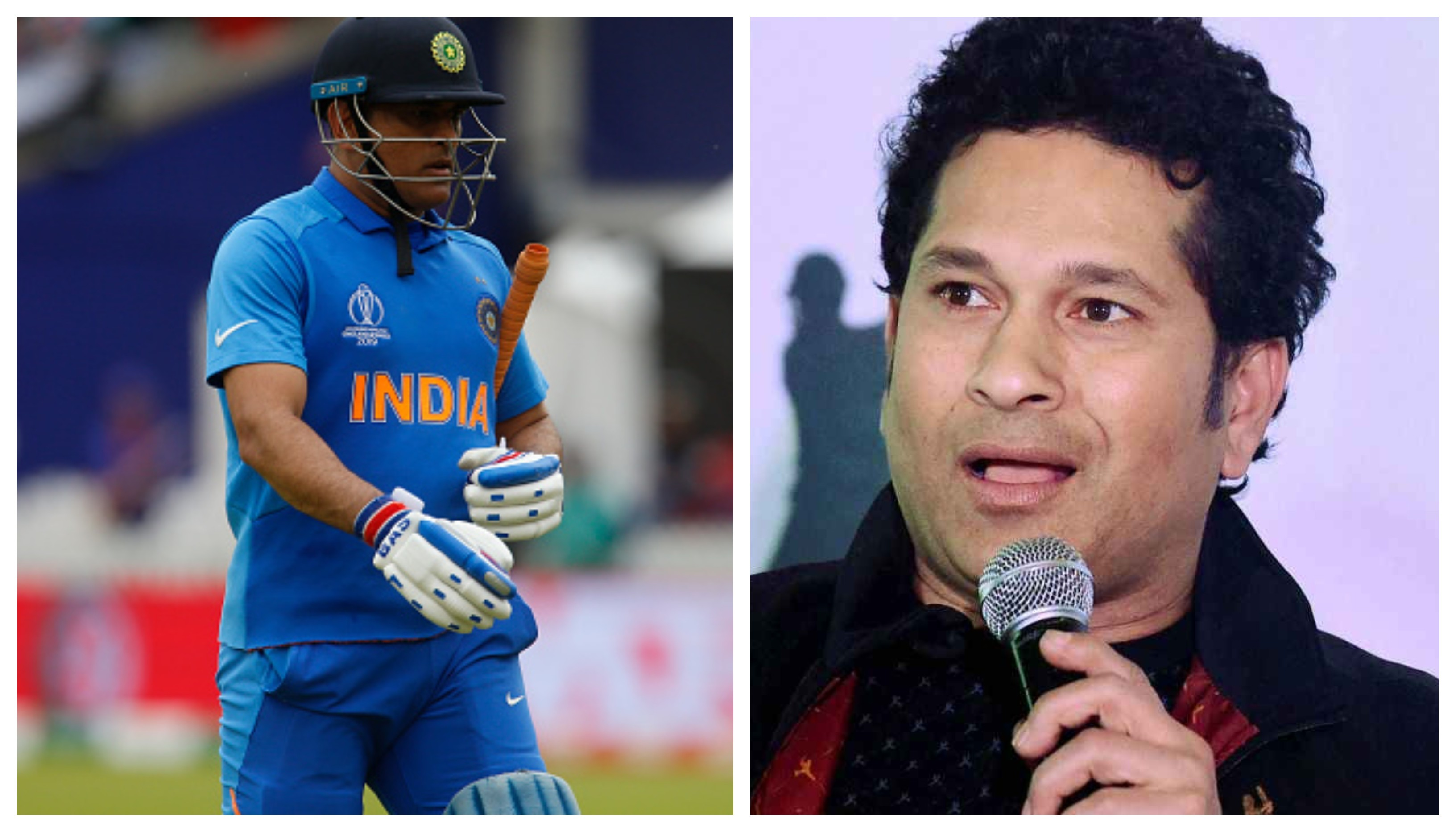 CWC 2019: Tendulkar shares his two cents on Dhoni's retirement speculation