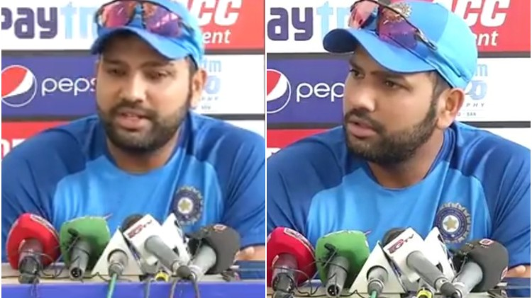 IND v BAN 2019: WATCH - Rohit Sharma slams a journalist for not keeping his phone on silent mode