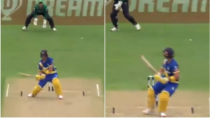WATCH - Neil Broom plays an exceptional reverse ramp for a six in Super Smash