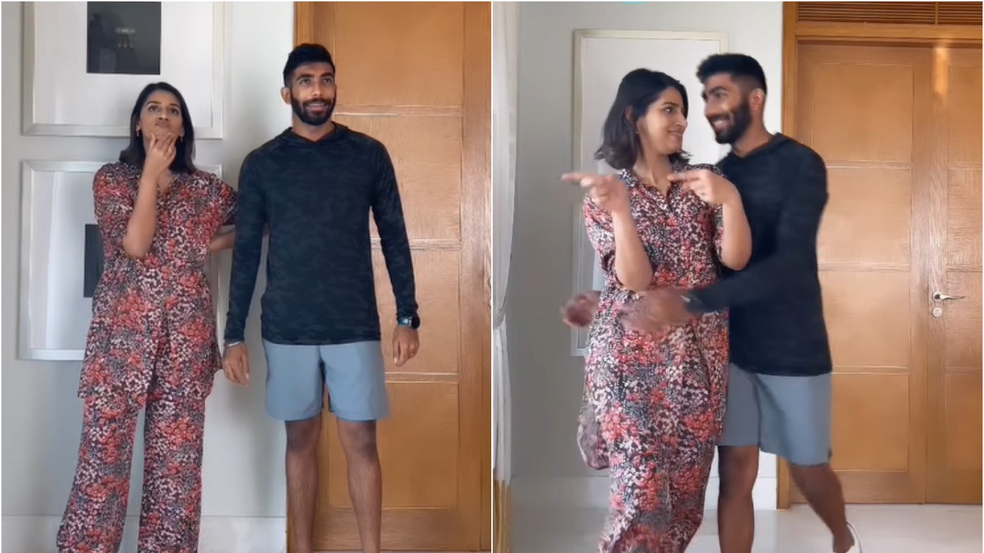 WATCH - Jasprit Bumrah and Sanjana Ganesan match their choices in a latest Insta trend