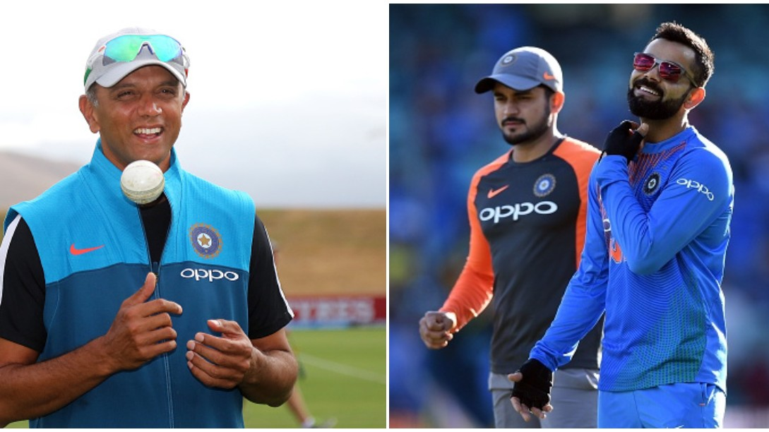 IND v SA 2019: Rahul Dravid meets Virat Kohli & Co. during India's practice session ahead of 3rd T20I