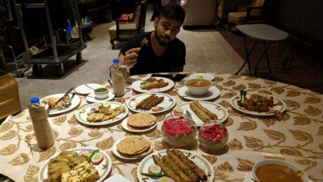 Virat Kohli loves food