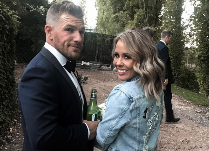 Aaron Finch and his wife Amy | Instagram
