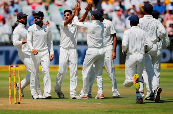 Bhuvneshwar Kumar has shaken the South African batsman |GETTY
