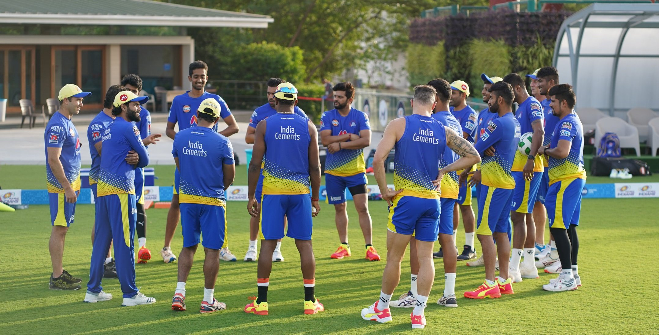 CSK players in training ahead of IPL 2021 | @ChennaiIPL/Twitter
