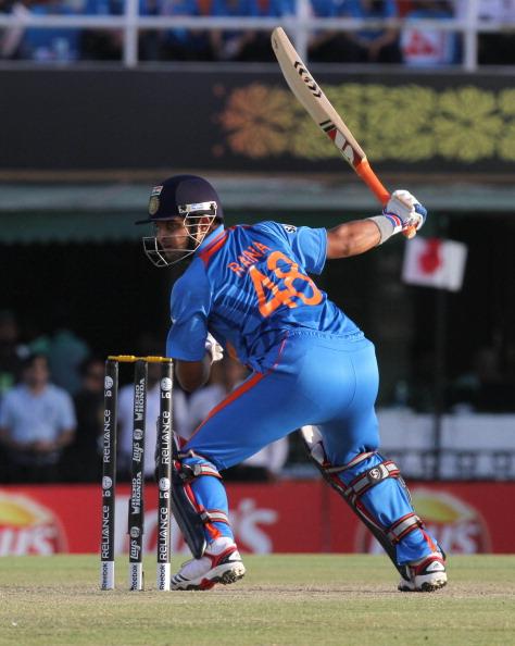 Suresh Raina made 36* vs Pakistan in 2011 World Cup SF | Getty