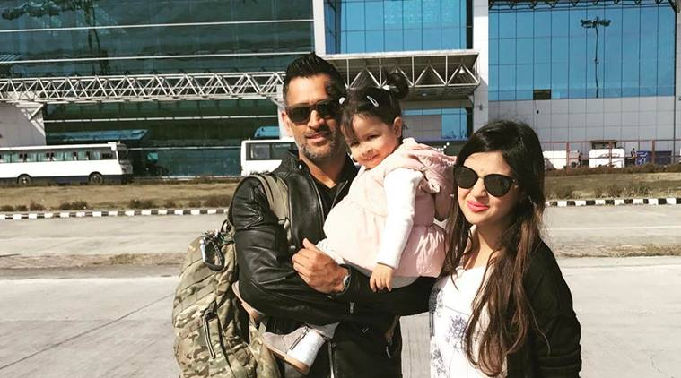 MS Dhoni spending time with family | Indian Express