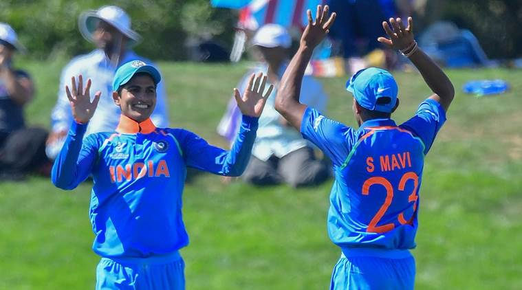 India U-19 beat Pakistan U-19 by 203 runs in the semifinal (Pic Source: Cricket World Cup Twitter)
