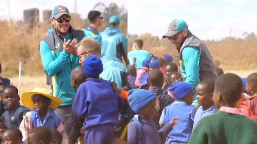WATCH: Australian cricketers spend time with underprivileged kids in Harare