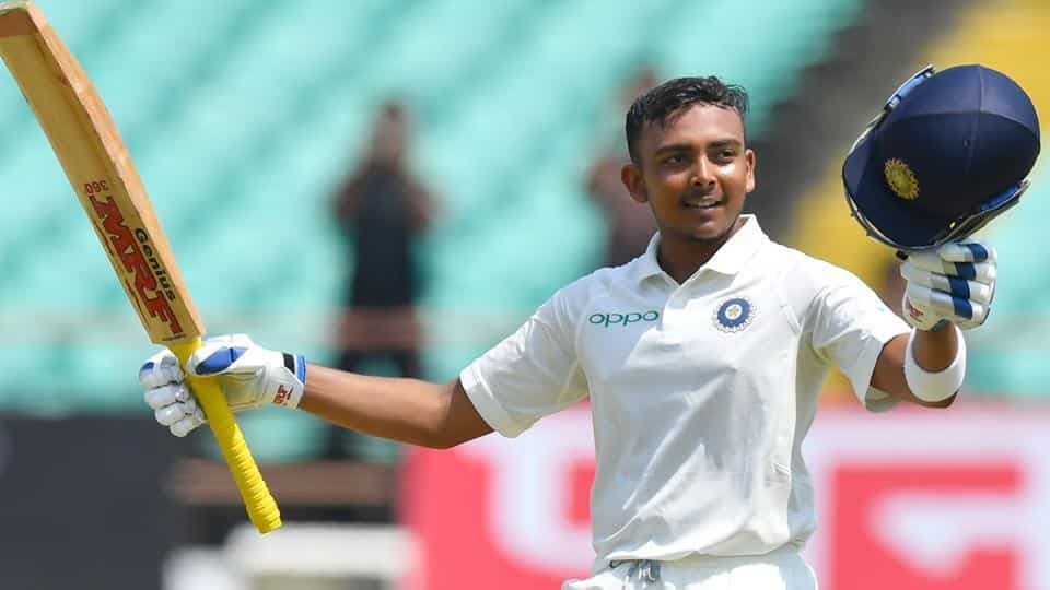 Prithvi Shaw scored a brilliant 134 for India | AFP