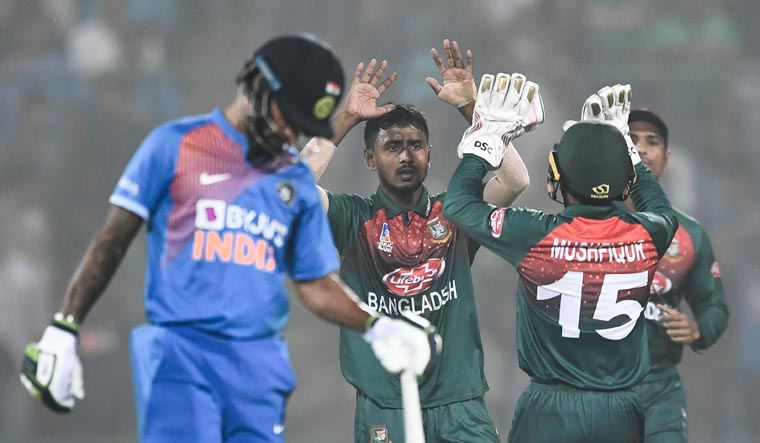Bangladesh beat India by 7 wickets   AFP