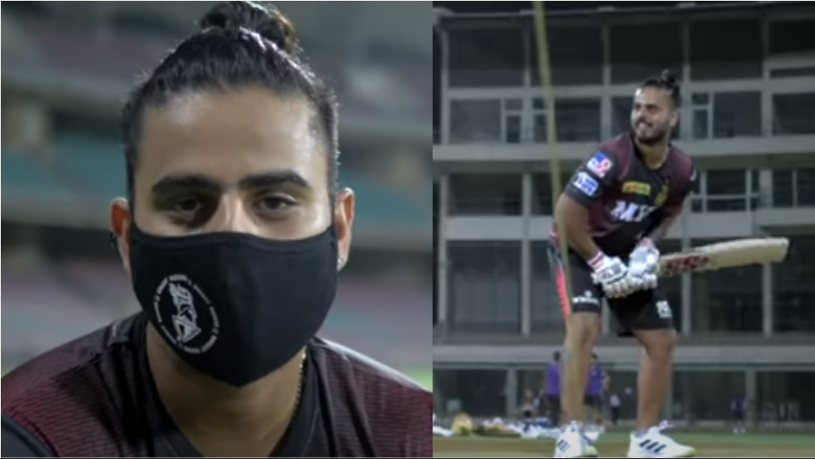 IPL 2021: WATCH - Nitish Rana joins KKR for training after beating COVID-19; urges fans to take all precautions against the virus