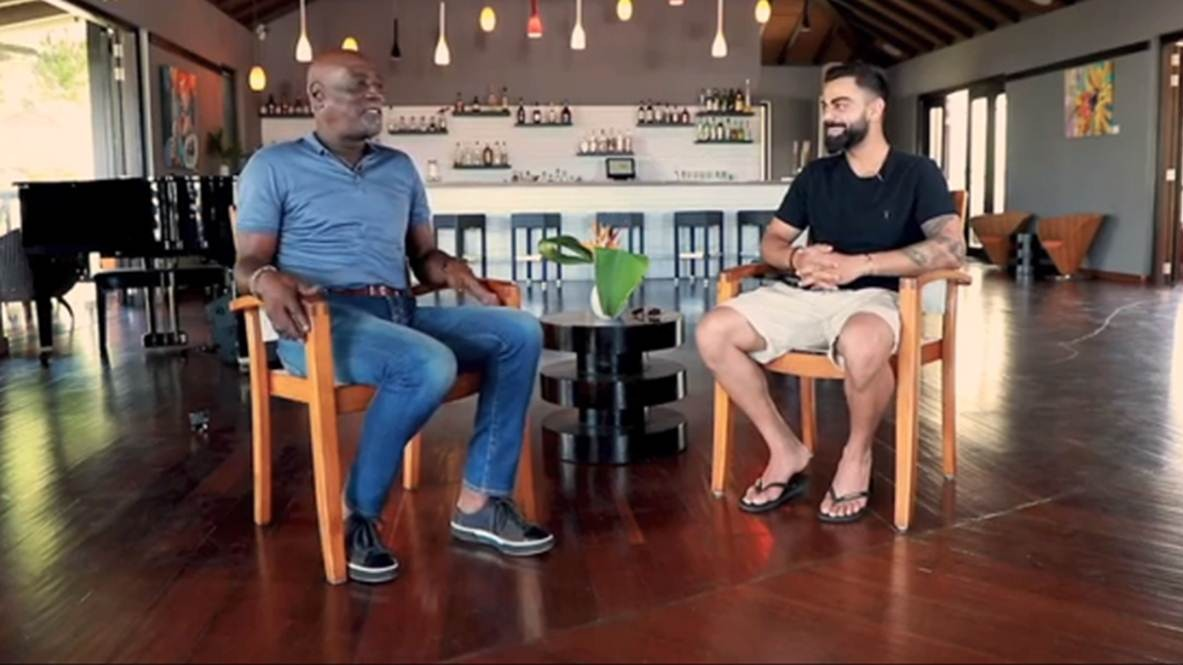 WI v IND 2019: WATCH – Virat Kohli interviews Sir Vivian Richards ahead of the first Test