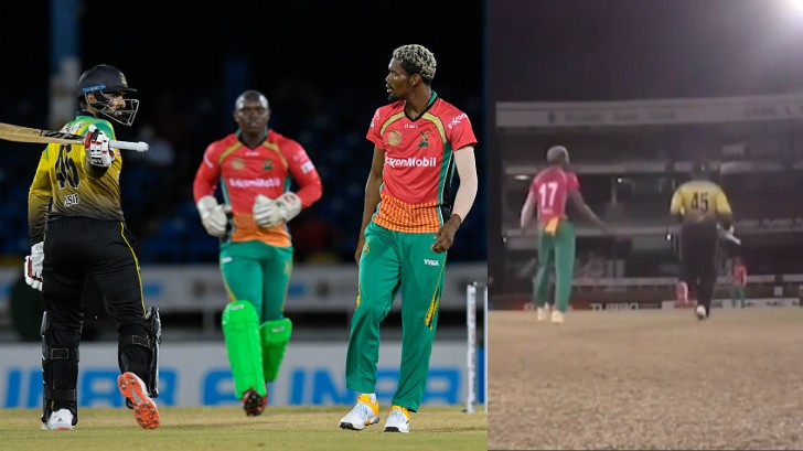 CPL 2020: WATCH - Asif Ali almost hits Keemo Paul with his bat in anger over a sent-off