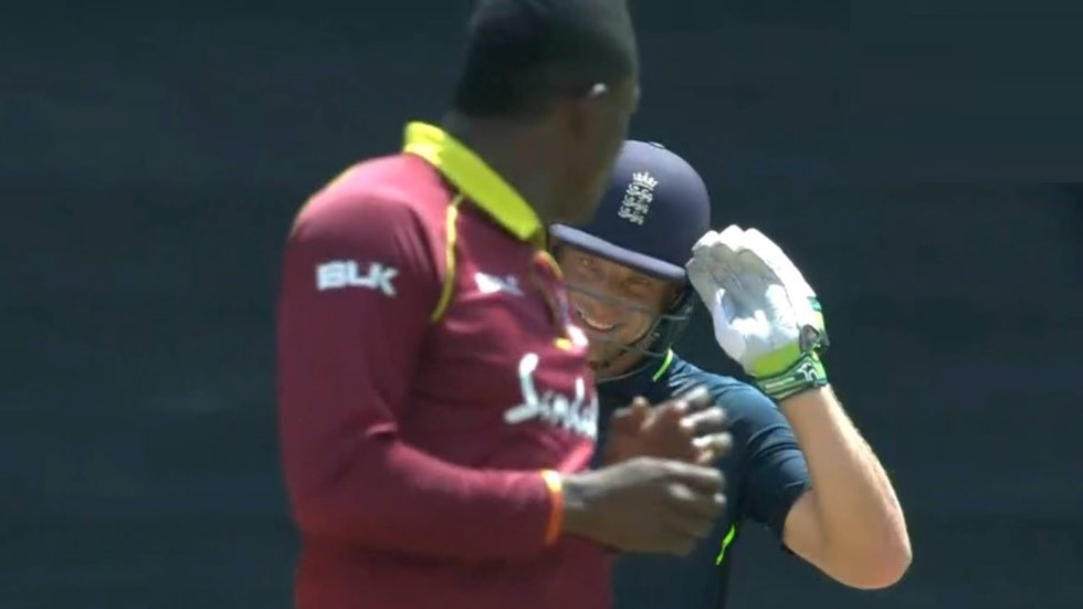 WI v ENG 2019: Watch - Jos Buttler gives it back to Sheldon Cottrell after he gave Eoin Morgan a send-off