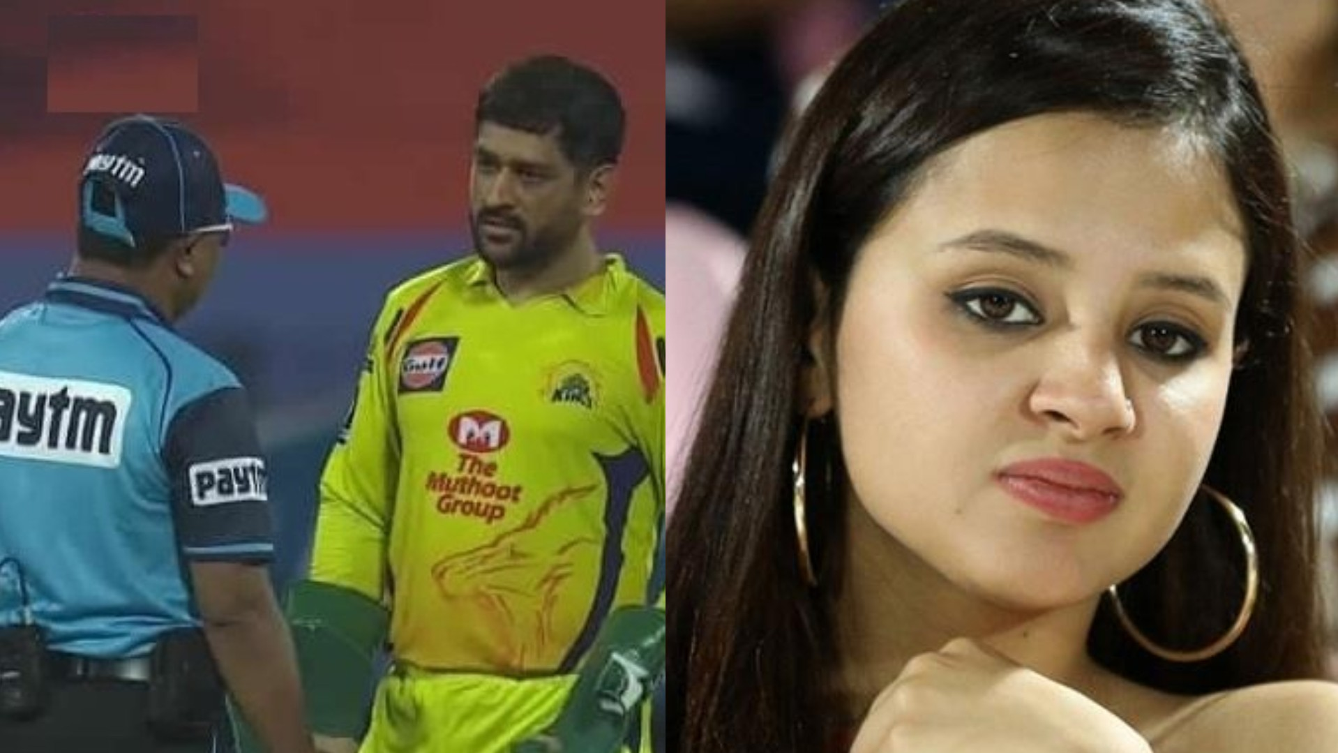 IPL 2020: MS Dhoni argues with umpires as they overturn Tom Curran's dismissal; Sakshi reacts