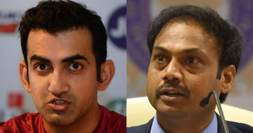 Gautam Gambhir and MSK Prasad got into a war of words