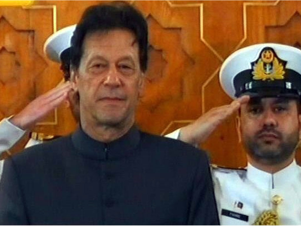 Imran Khan at the President's house in Islamabad for the oath taking ceremony