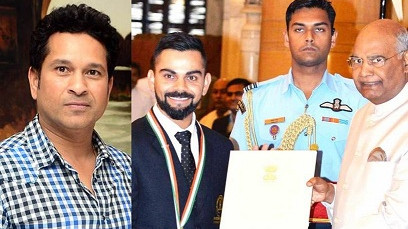 Sachin Tendulkar wishes Virat Kohli on his Khel Ratna Award