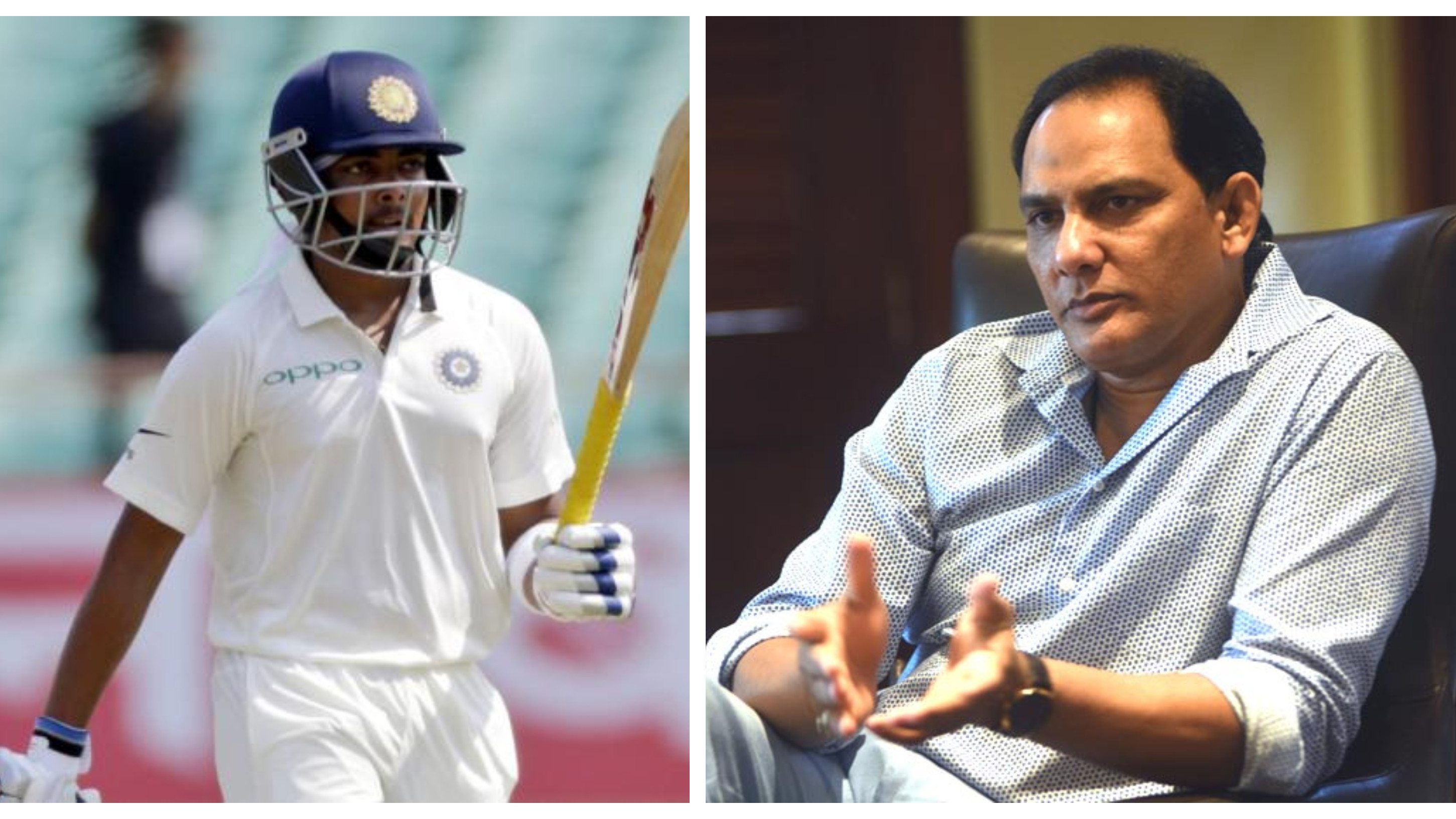 IND v WI 2018: Don't jump to conclusion and be patient with Prithvi Shaw, advices Mohammad Azharuddin