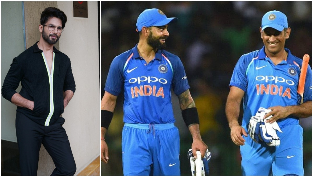 Shahid Kapoor wins hearts by comparing Dhoni and Kohli with one's parents