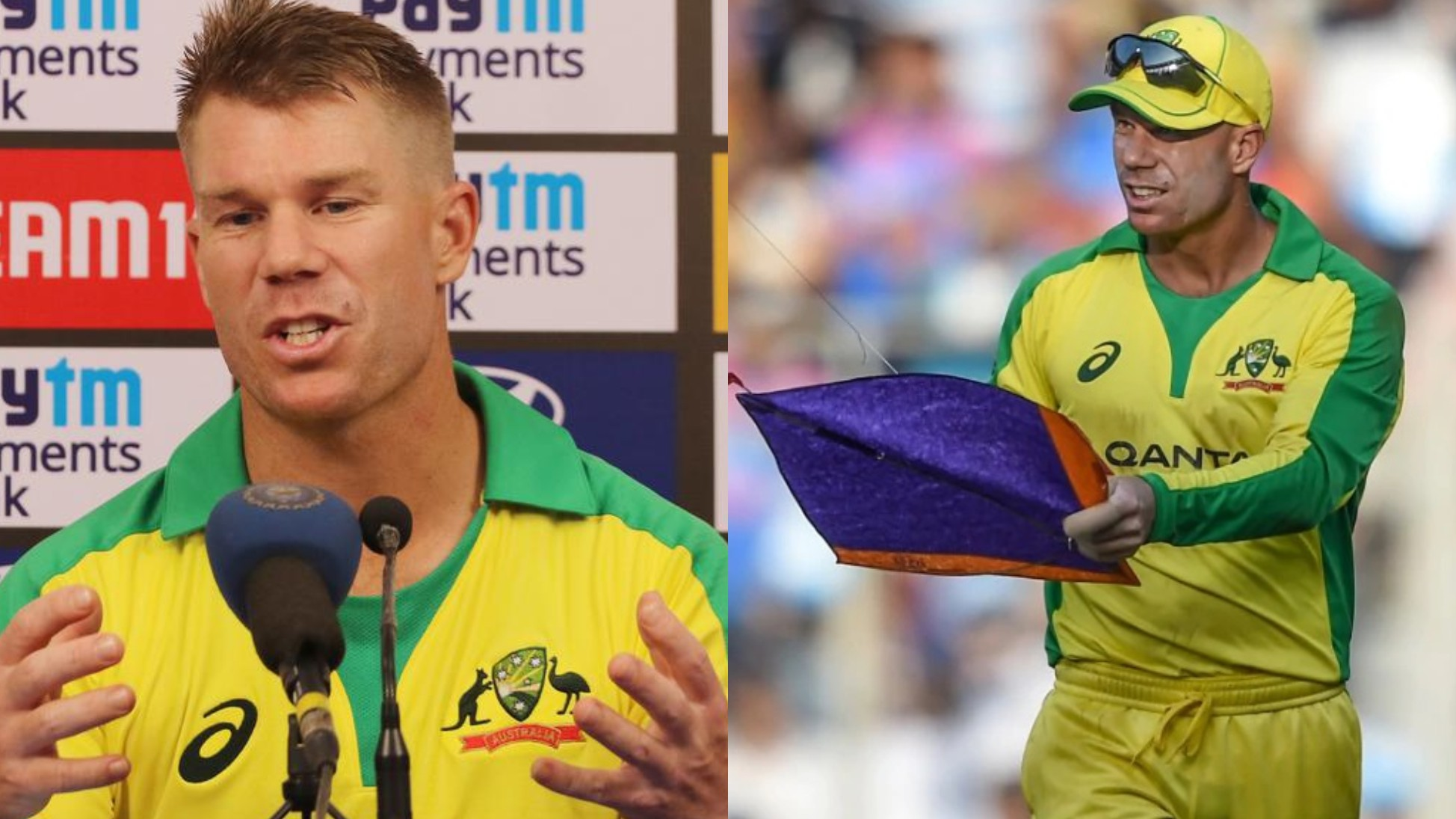 IND v AUS 2020: WATCH - David Warner surprised to see a kite in Wankhede during first ODI