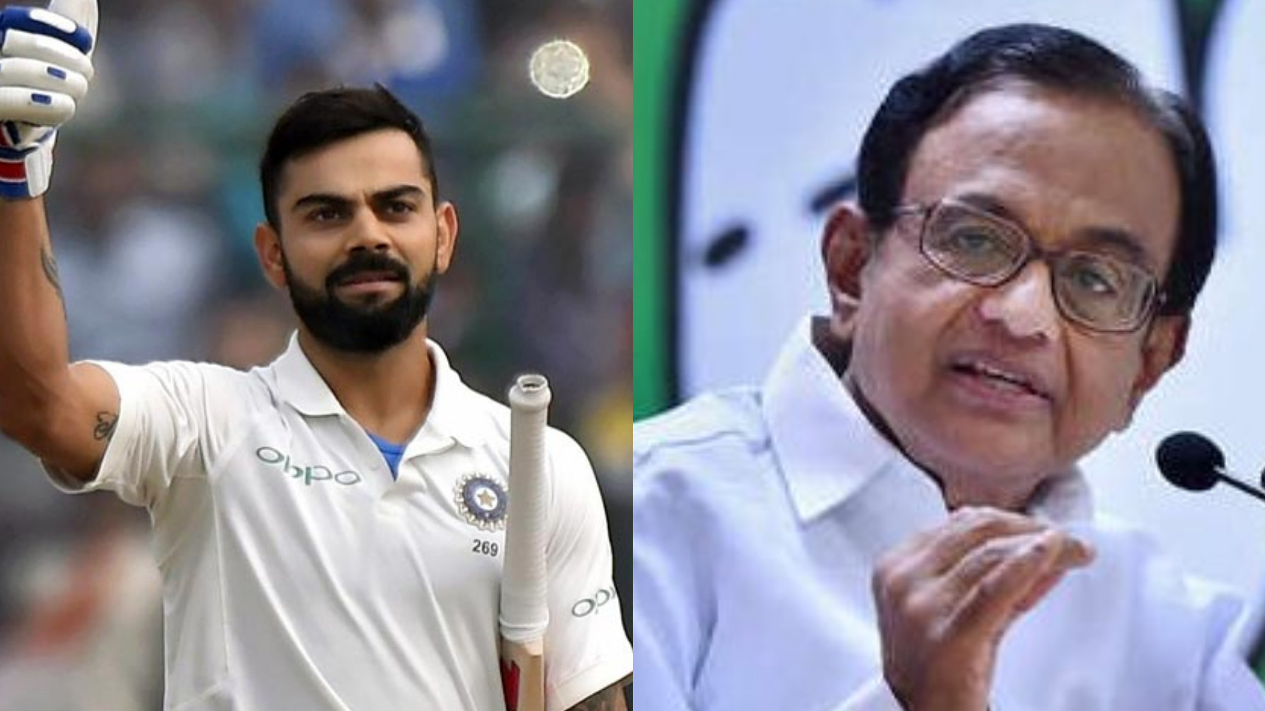 P Chidambaram compares Congress' Karnataka by-poll win with Virat Kohli's success
