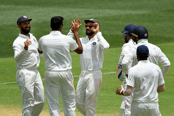 Virat Kohli and co. after a wicket | GETTY