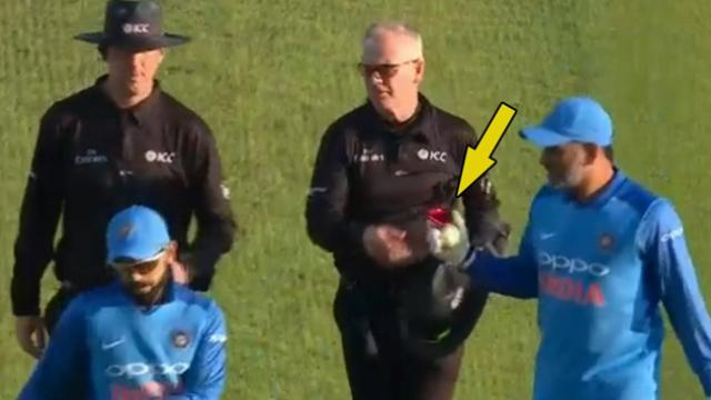 ENG v IND 2018: WATCH- MS Dhoni's atypical act which made fans speculate about his retirement