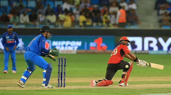 Anshuman Rath bats during Asia cup 2019 against India | Getty Images