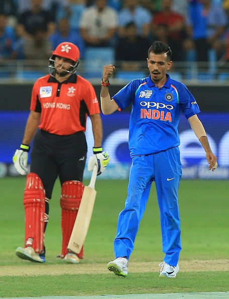 Chahal picked up 3/46 against Hong Kong | Getty