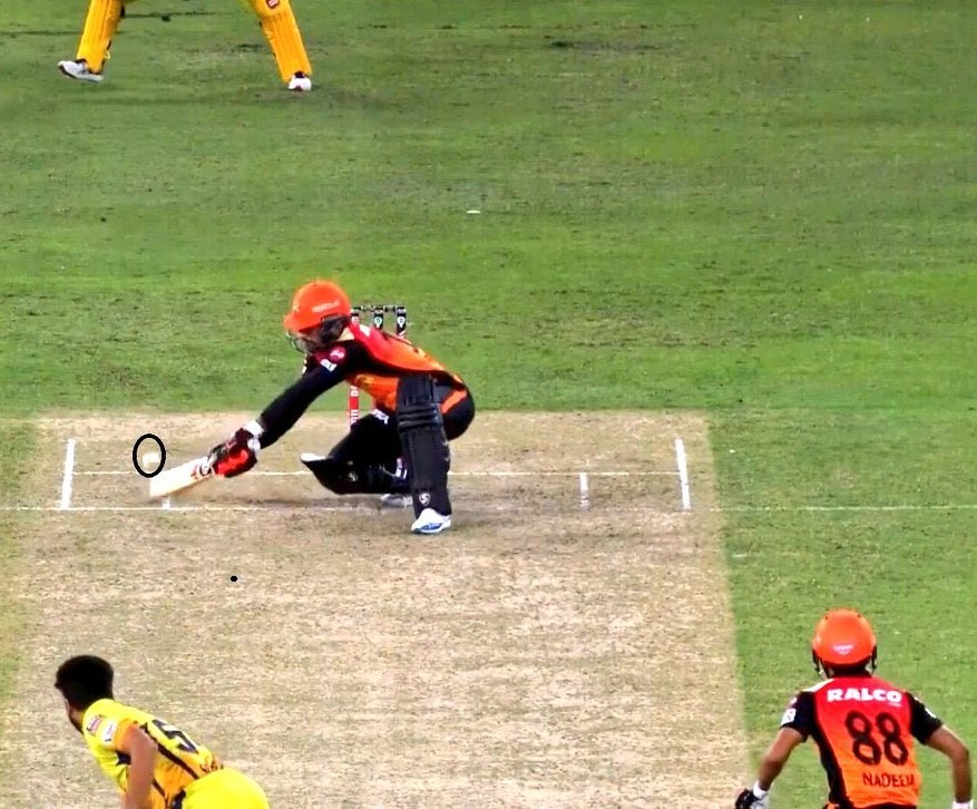 Dhoni was left angry after umpire declared it wide | Screengrab