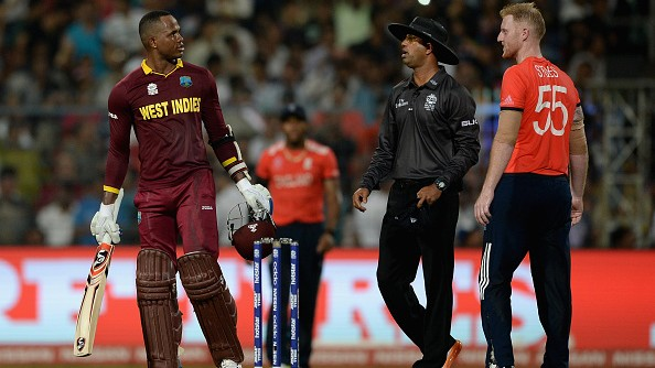 Ben Stokes reacts to Marlon Samuels's derogatory comments on his family