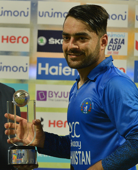 Rashid earned the man of the match award for following his brilliant batting with outstanding bowling on the night | Getty