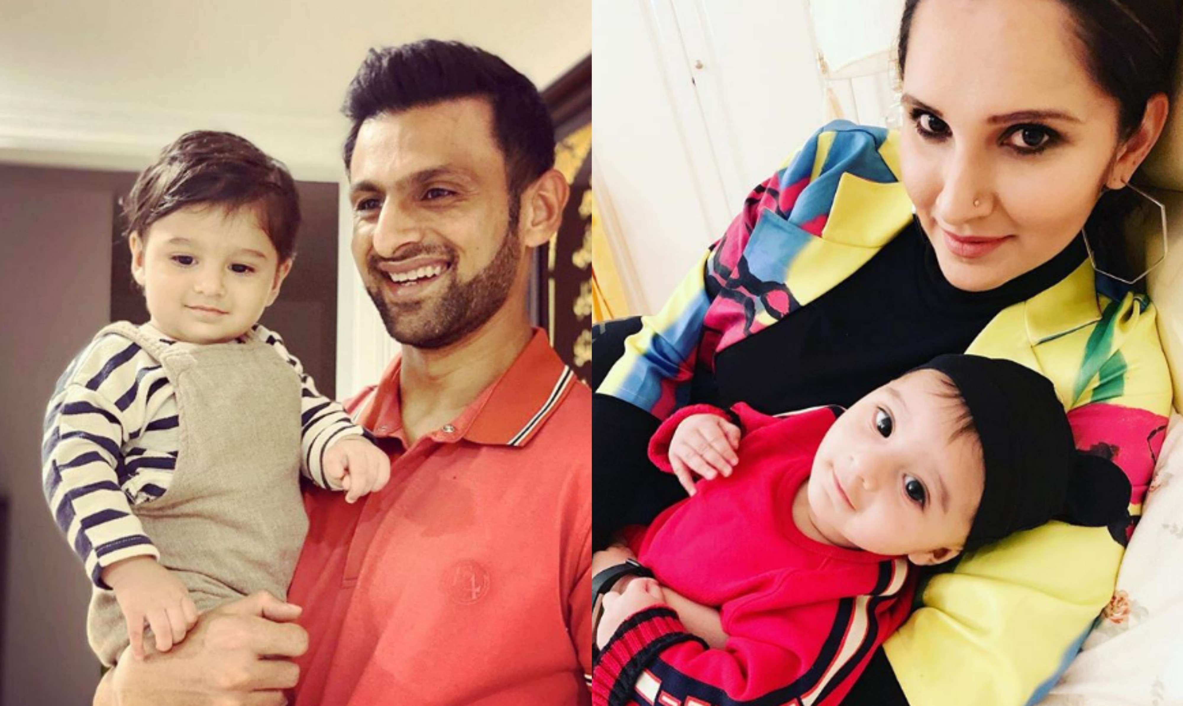 Shoaib and Izhaan with their  son Izhan   Instagram