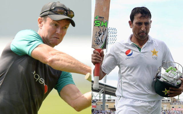 Grant Flower and Younis Khan | AFP