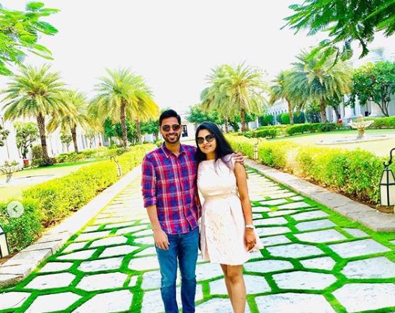Bhuvneshwar Kumar with his wife Nupur Nagar | Instagram
