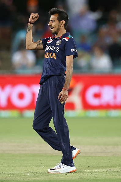 Chahal has picked four wickets in the T20I series so far | Getty