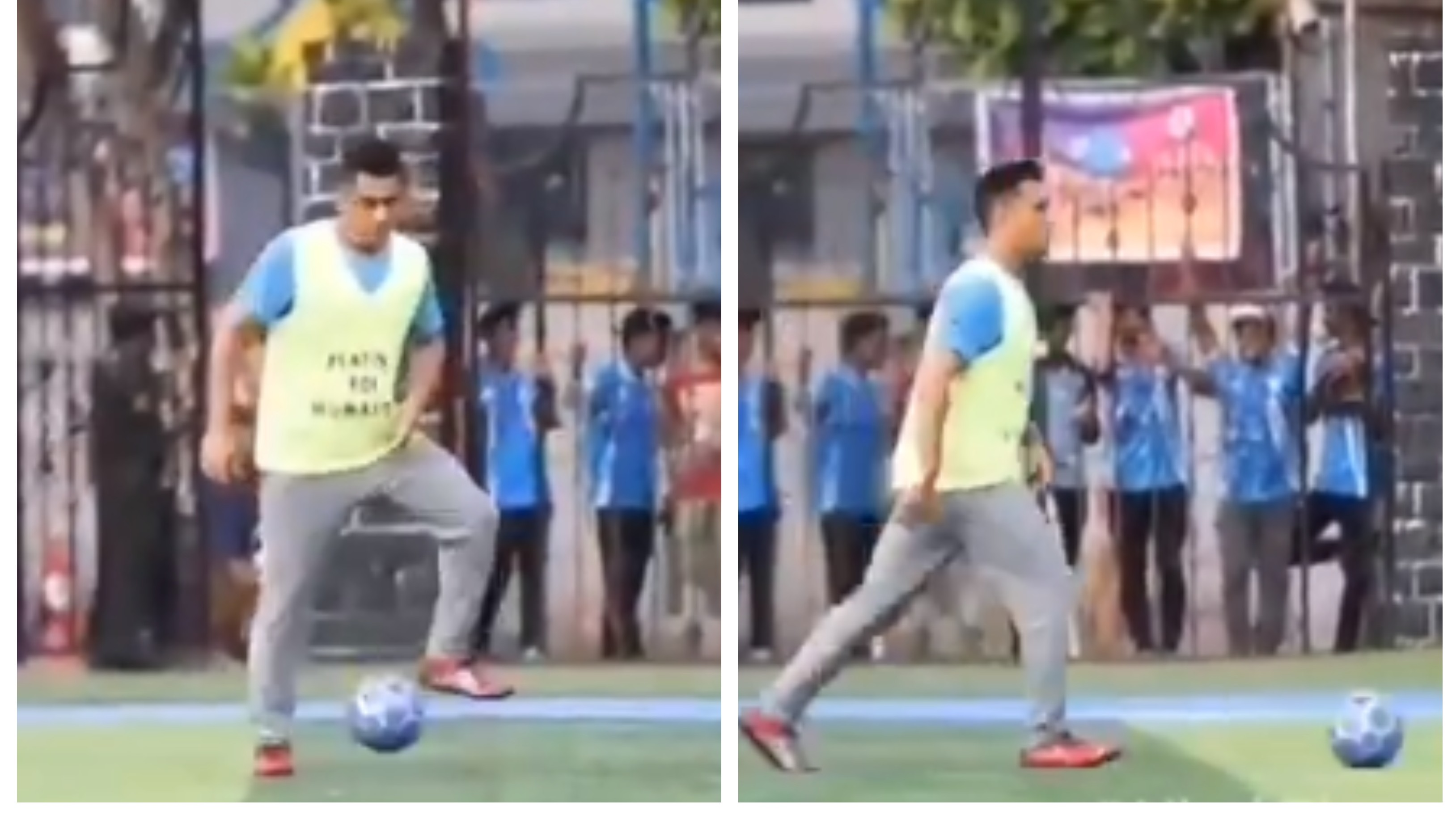 WATCH: MS Dhoni enjoys game of football with Bollywood star Arjun Kapoor