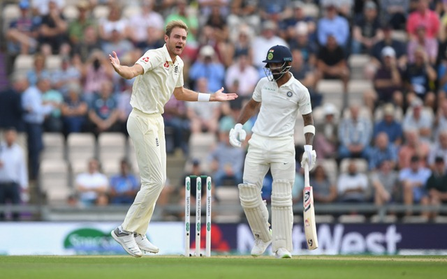 KL Rahul is trapped LBW by Stuart Broad in  Southampton | Getty Images