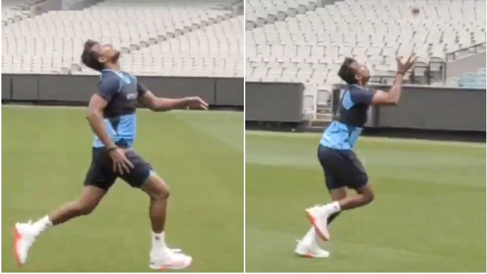 AUS v IND 2020-21: WATCH- T Natarajan takes a stunning catch running backwards during field practice