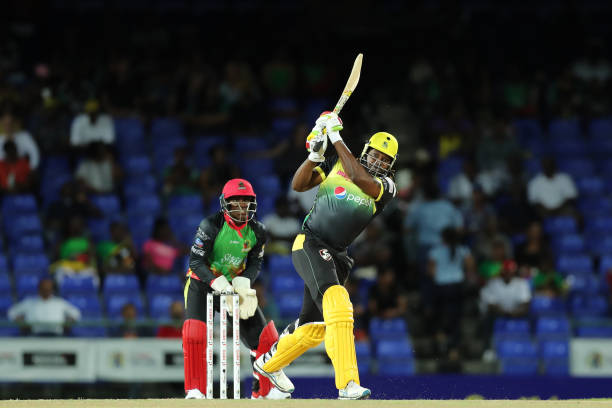 Chris Gayle smashed 116 runs off 62 balls against SNP in CPL 2019. (photo - getty)