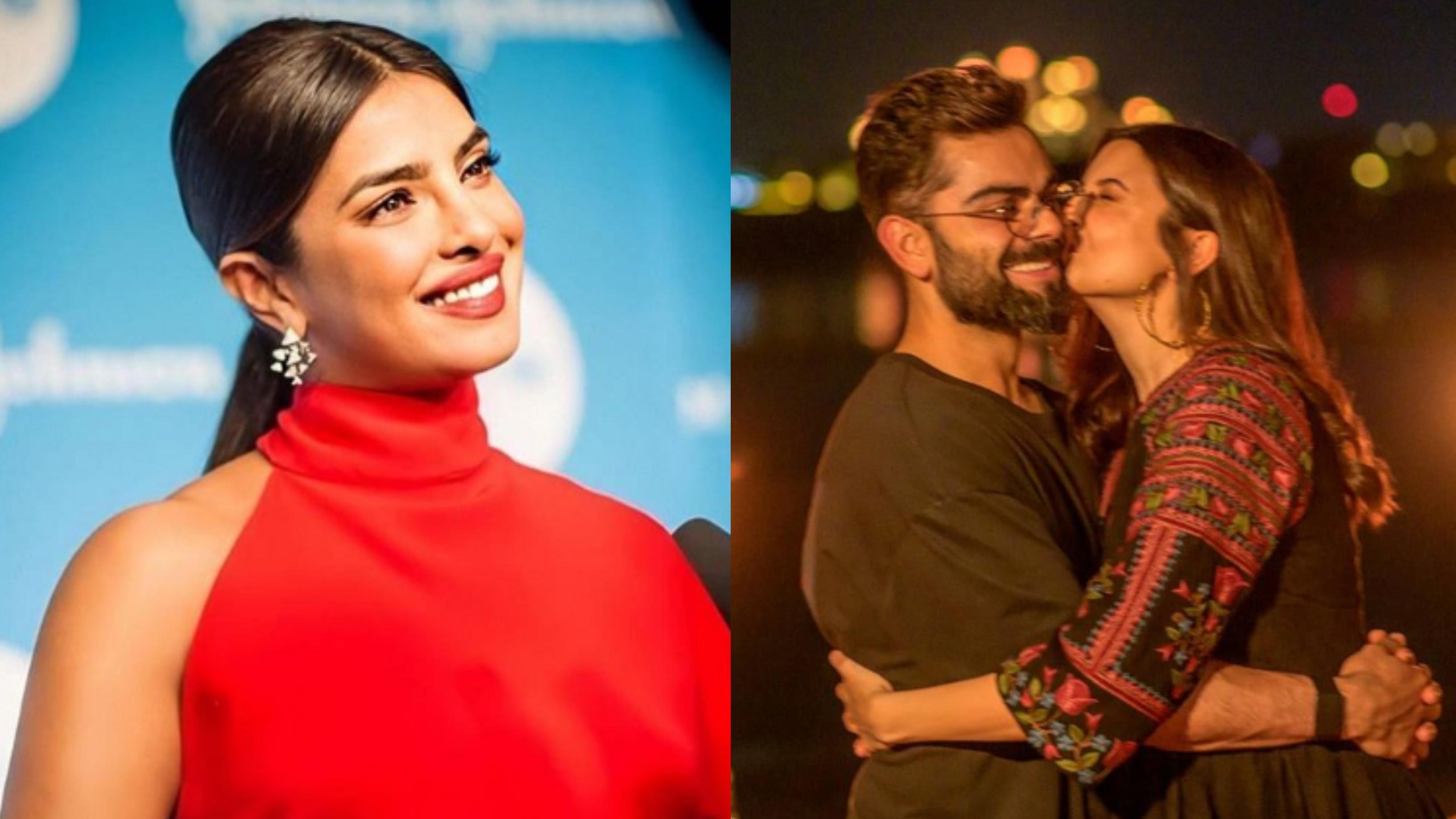 Anushka Sharma showers Virat Kohli with love and kisses in latest Instagram post; Priyanka Chopra reacts