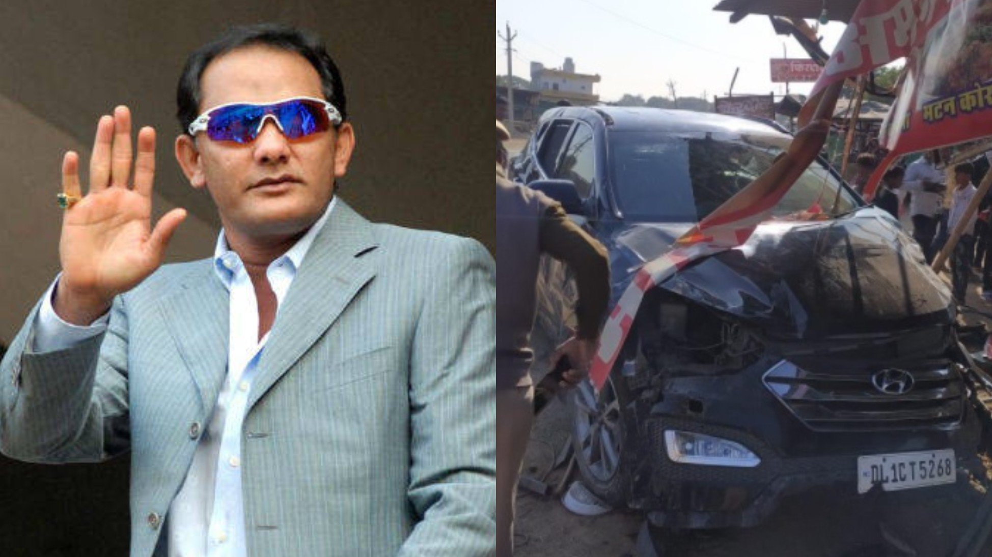 Mohammad Azharuddin escapes unhurt from car accident in Rajasthan