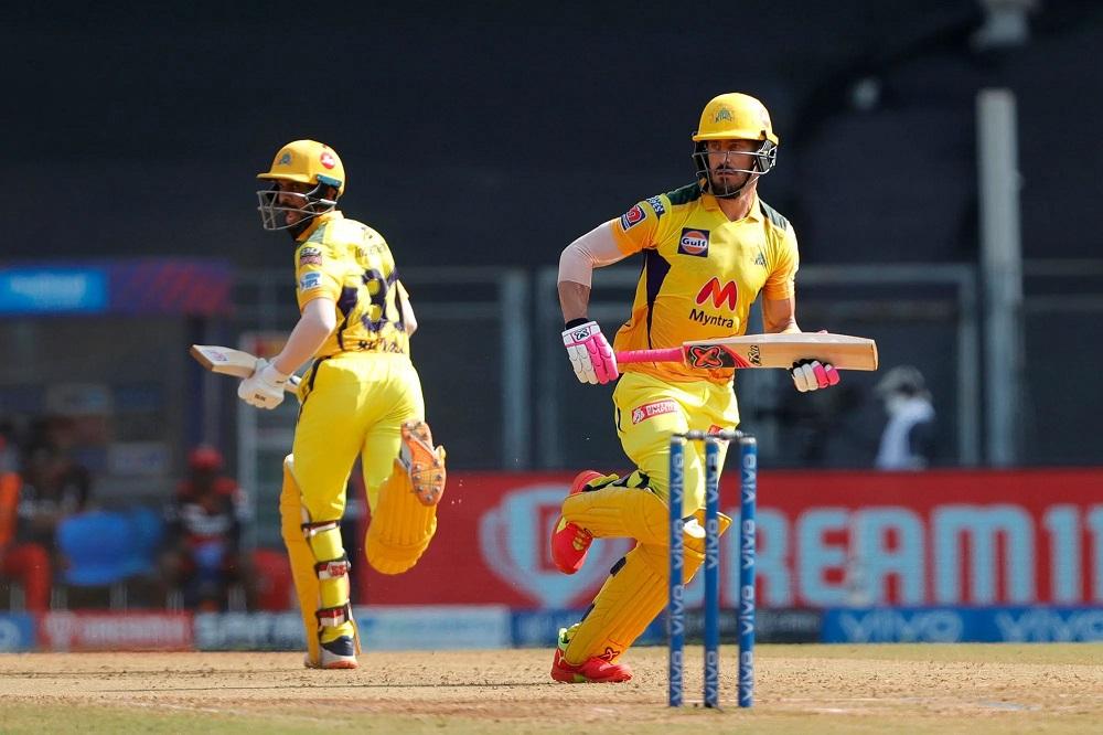 Ruturaj Gaikwad with Faf du Plessis for CSK   BCCI-IPL