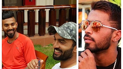 KL Rahul and Dinesh Karthik make fun of Hardik Pandya; say they are happy without him in SL