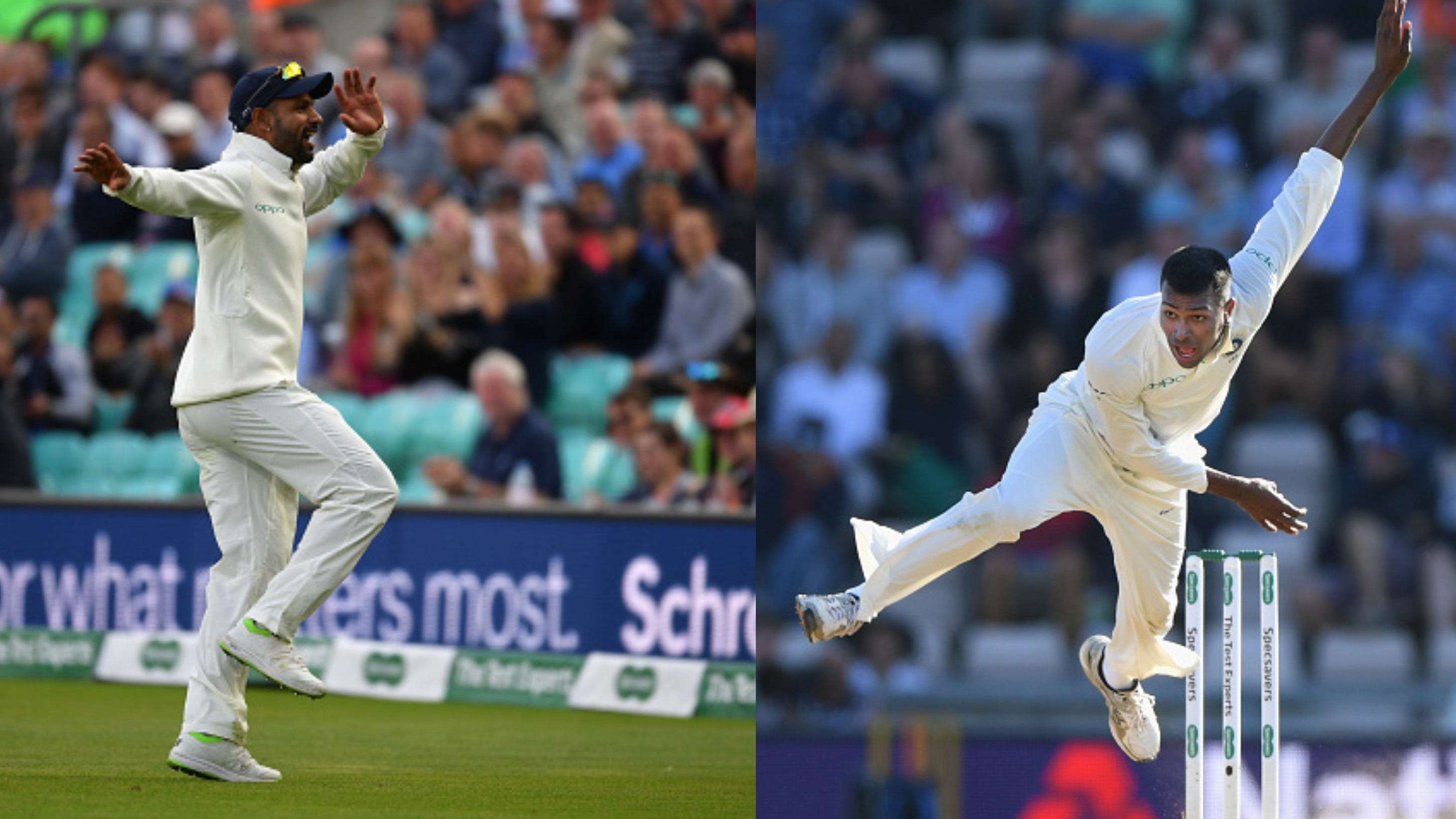 ENG v IND 2018: Hardik Pandya reacts after Dhawan shows his bhangra moves at The Oval