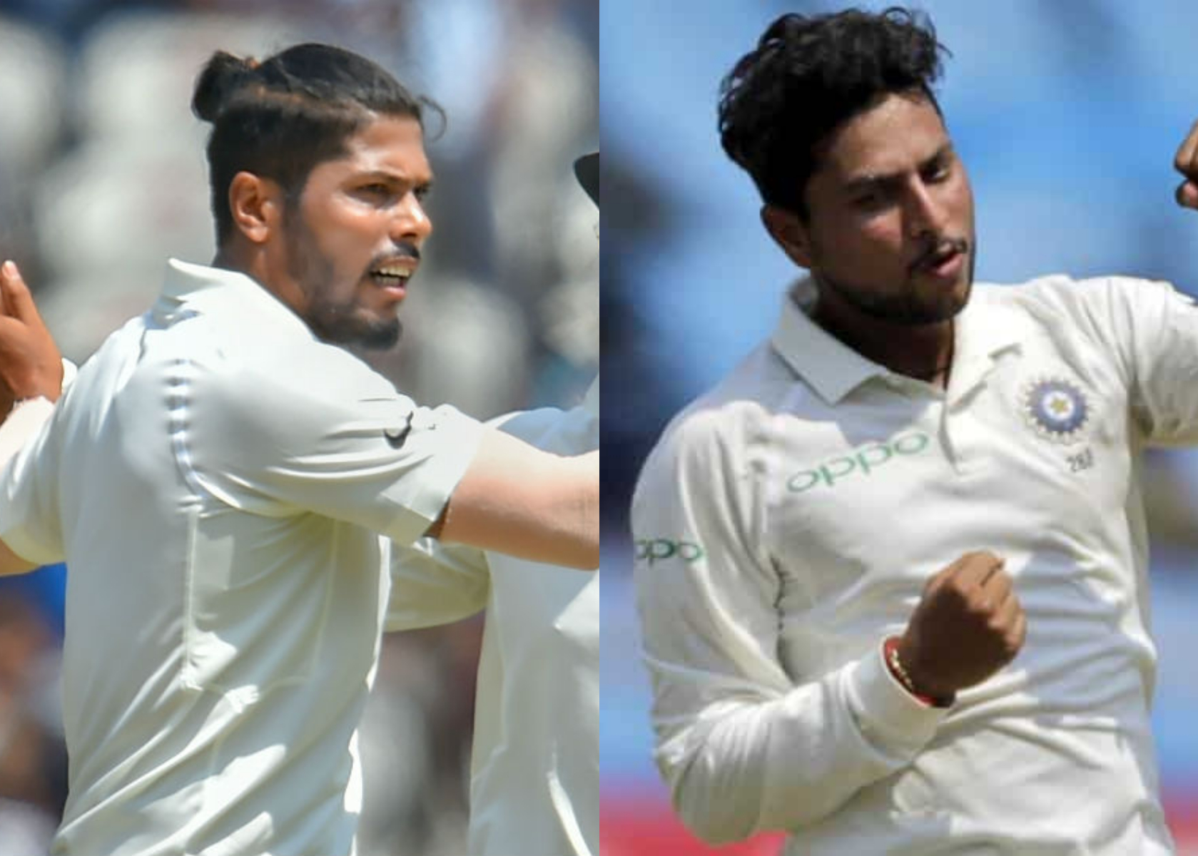 Both Yadav's Umesh and Kuldeep picked three wickets each | AFP